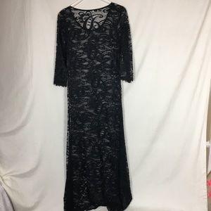 Long Black Lace Dress - NWOT